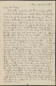 Letter from Richard Davis Webb, Dublin, to Samuel May, April 10, 1863